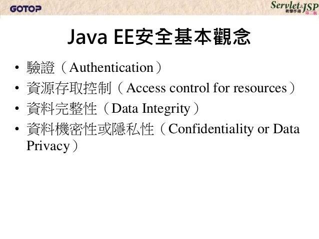 Servlet & JSP 教學手冊第二版 - 第 10 章:Web 容器安全管理 Slide 3
