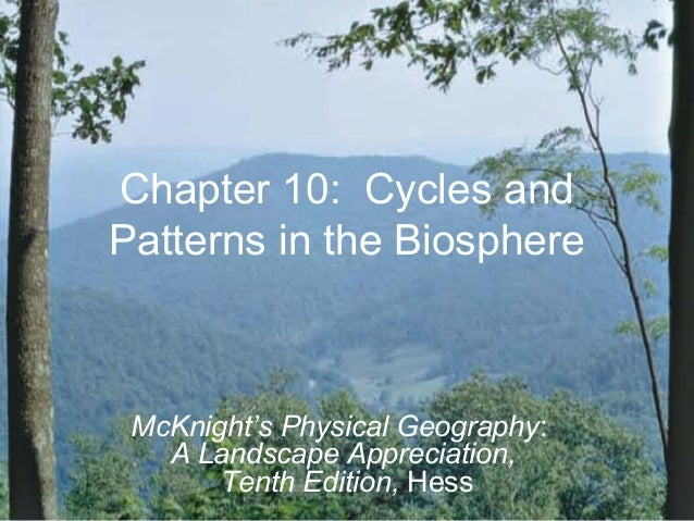 Chapter 10: Cycles andPatterns in the BiosphereMcKnight's Physical Geography:A Landscape Appreciation,Tenth Edition, Hess