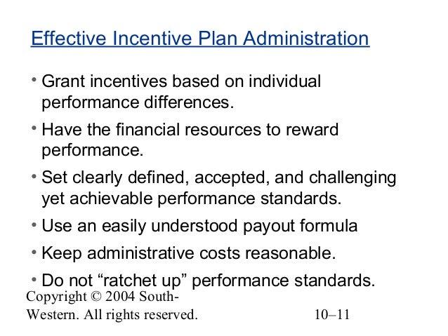explain five reasons why incentive plans fail