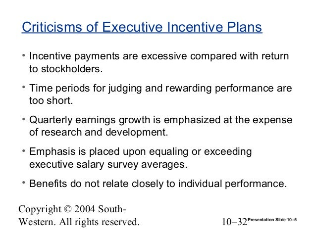 criticism of executive pay 1 chapter 1 issues in executive compensation critics of executive compensation raise difficult questions: why is executive pay so high is it too high how can the executive.