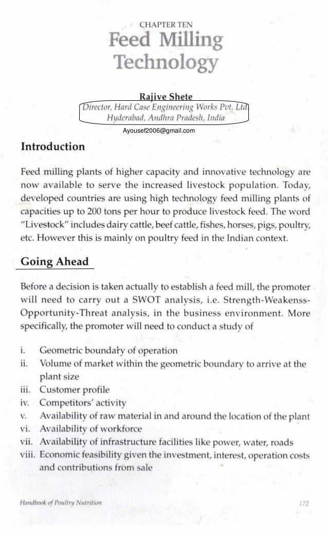 Chapter 10  Feed milling technology