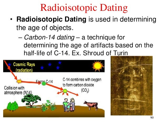radiocarbon dating involves determining the age of artifacts by