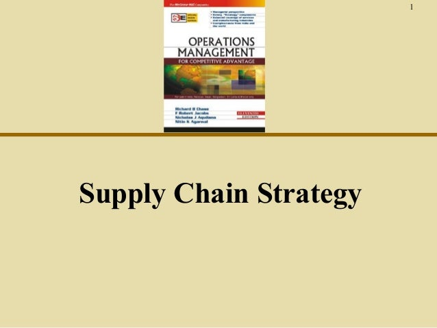1  Supply Chain Strategy