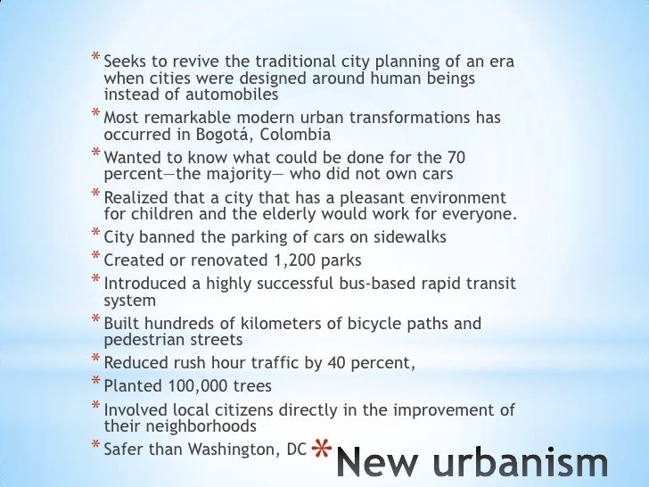 Ch 10 cities for people not cars