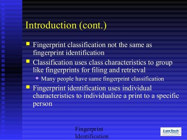 history of fingerprinting essay