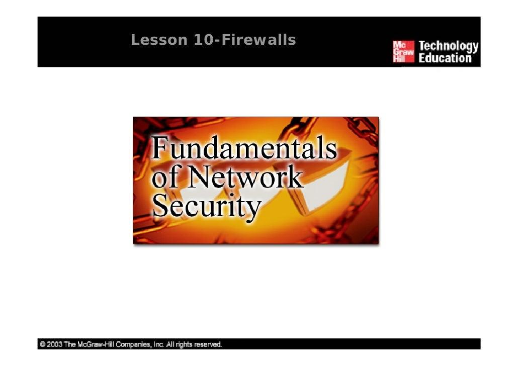 Lesson 10-Firewalls