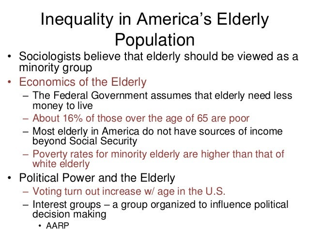 conflict perspective on age inequalities Functionalist perspective of social inequality quick reference a sociological viewpoint that argues that social  compare conflict perspective of social inequality.