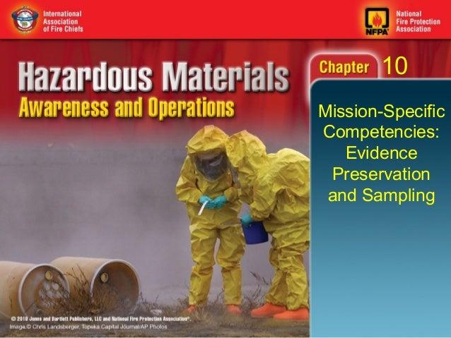 10Mission-SpecificCompetencies:   Evidence Preservation and Sampling