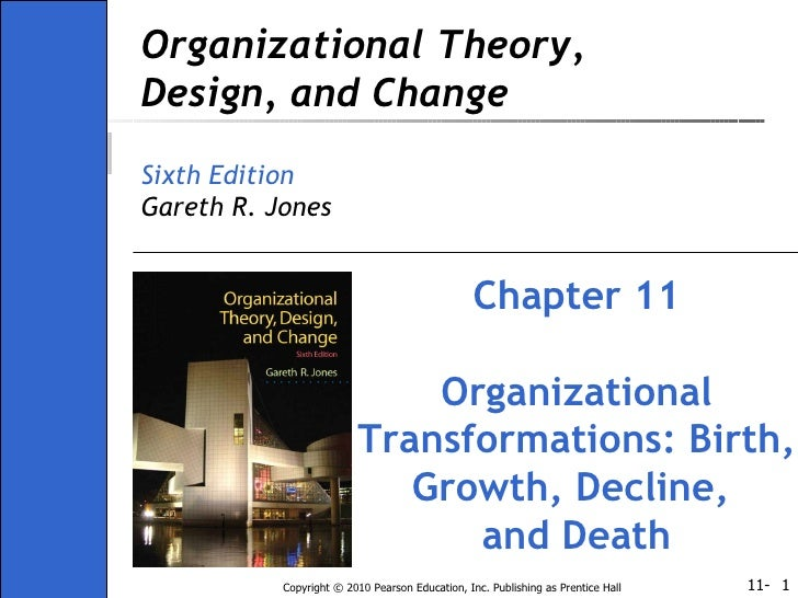 Organizational Theory, Design, and Change Sixth Edition Gareth R. Jones Chapter 11 Organizational Transformations: Birth, ...