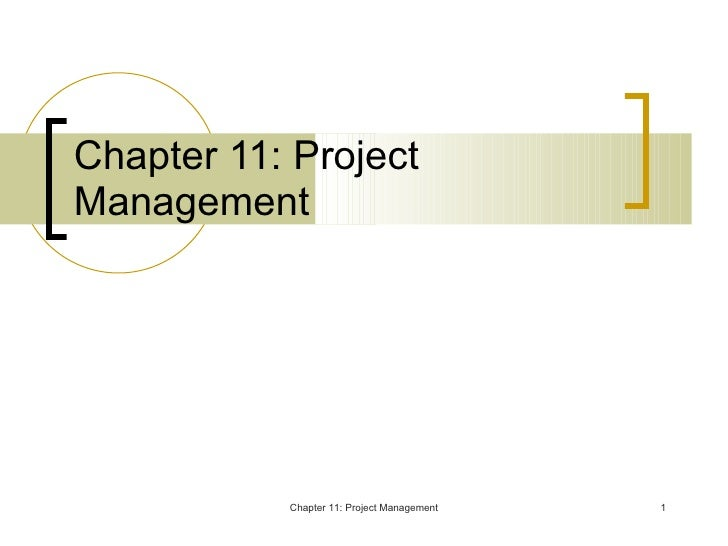 Chapter 11: Project Management Chapter 11: Project Management