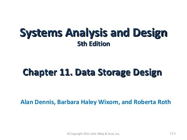 Ch11 Data Storage Design