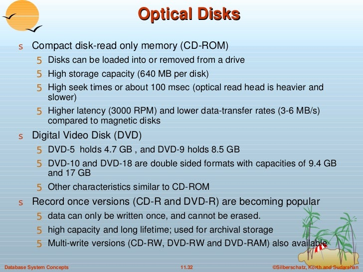 Optical Disks <ul><li>Compact disk-read only memory (CD-ROM) </li></ul><ul><ul><li>Disks can be loaded into or removed fro...