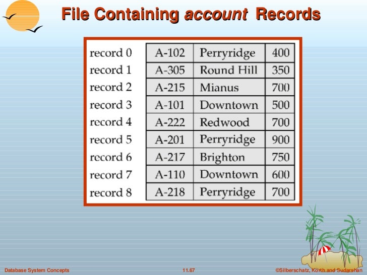 File Containing  account  Records