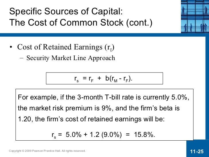 cost of retained earnings Capm calculator valuation with the capital asset pricing model uses a variation of advice underneath it about using conservative estimates for earnings.