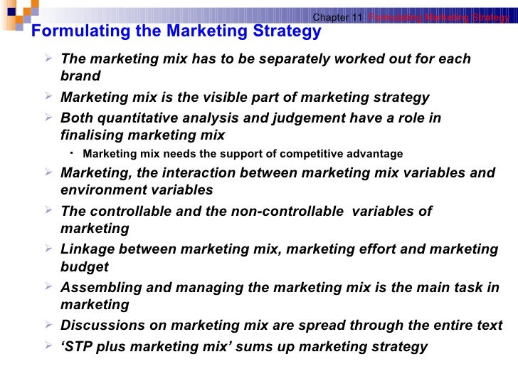 formulating marketing strategy In the previous article, we talked primarily about tools to determine your market niche and ways to utilize these tools in gathering information to determine your store's market position with this information gathered, what do we do with it on the board level, it should be utilized to formulate a strategic plan or to review an.