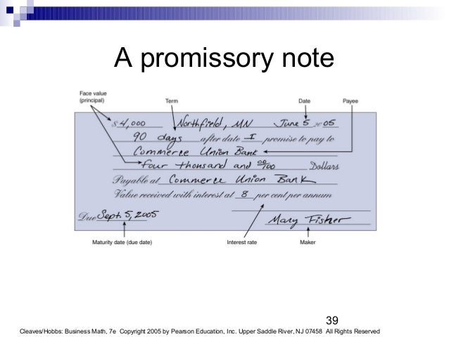 Mathematics of investment promissory note forex trade manual