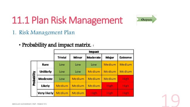 Pmp Pmbok 5Th Ch 11 Project Risk Management