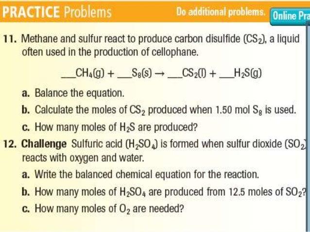 Ch 11 sec 2, Stoichiometric calculations