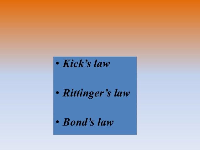 • Kick's law • Rittinger's law • Bond's law