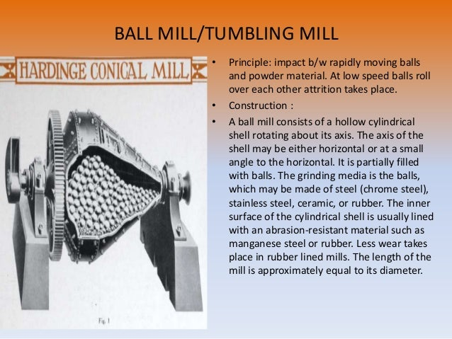 Advantages: 1. Ball mill is capable of grinding a wide variety of materials of differing character and of different degree...