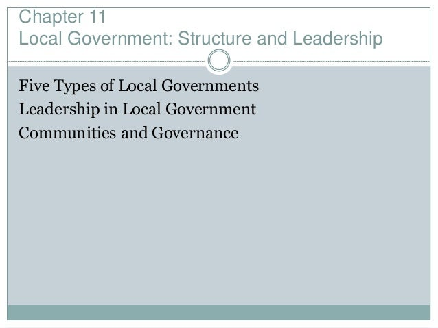 ch 11 state and local government