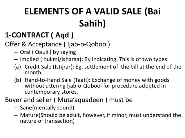 essentials of a contract of sale Sales of goods act :- it is defined in these words, a contract where by the seller transfers or agrees to transfer the property or the goods to the buyer for price a contract to transfer the ownership of goods from seller to the buyer is known as contract of sale.