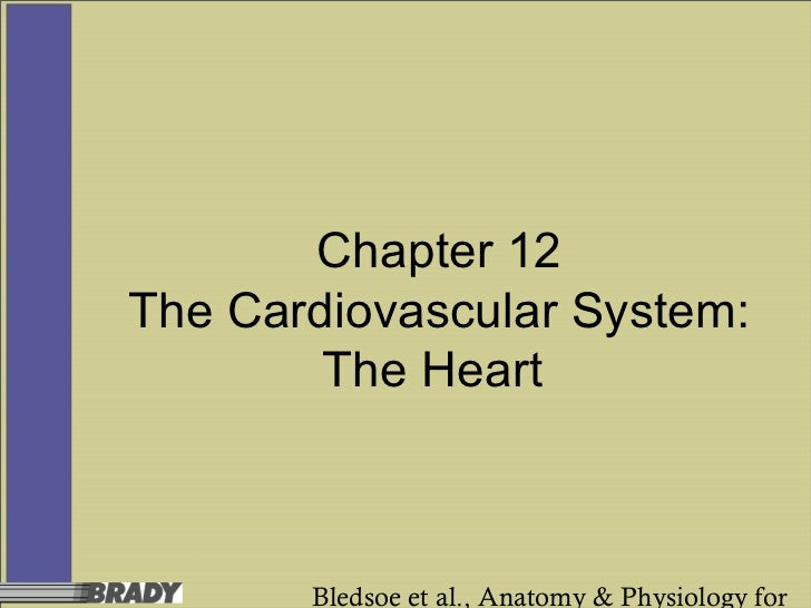 Chapter 12The Cardiovascular System:        The Heart       Bledsoe et al., Anatomy & Physiology for