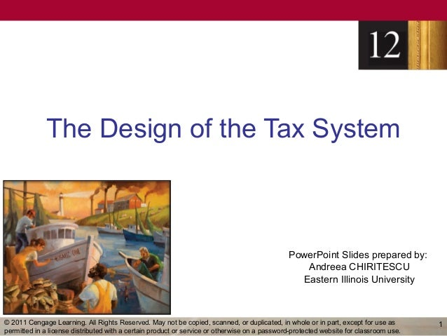 The Design of the Tax System                                                                                              ...
