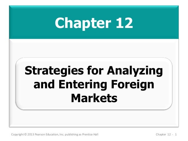 Chapter 12 Copyright © 2013 Pearson Education, Inc. publishing as Prentice Hall Chapter 12 - 1 Strategies for Analyzing an...