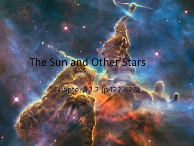 The Sun and Other Stars Chapter 12.2 (p422-428)