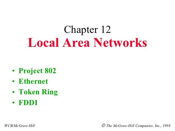 Chapter 12 Local Area Networks <ul><li>Project 802 </li></ul><ul><li>Ethernet </li></ul><ul><li>Token Ring </li></ul><ul><...
