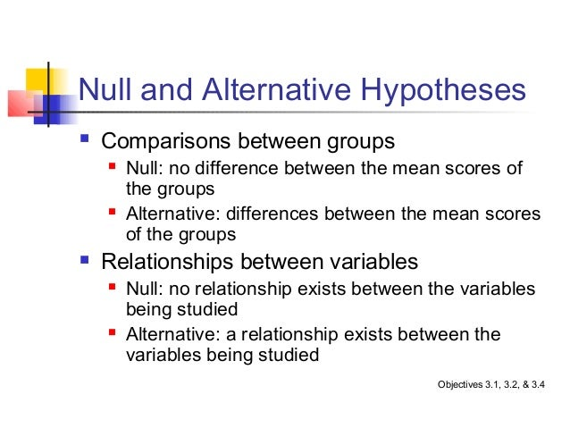 null and alternative hypotheses Independent samples t-test null and alternative hypotheses statistical inference begins by recognizing that research questions can be stated in terms.
