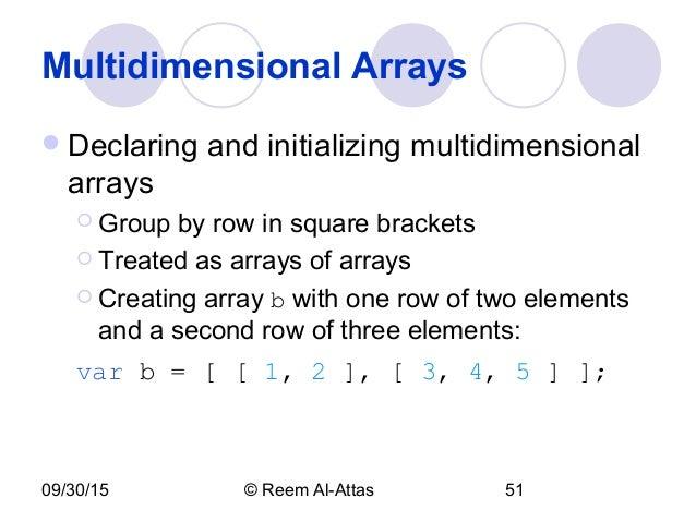 javascript create array multidimensional