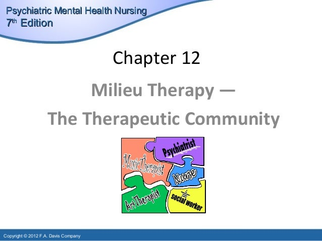 """therapeutic milieu and mental health nursing nursing essay Please acknowledge the canadian nurses association 1  the canadian  mental health association (cmha) defines mental health as striking a balance  across all aspects  socioeconomic environment""""  appropriateness of some  therapeutic regimens, such as certain drug therapies and electroshock therapy,  both of."""
