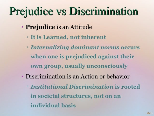 prejudice and discrimination 6 essay