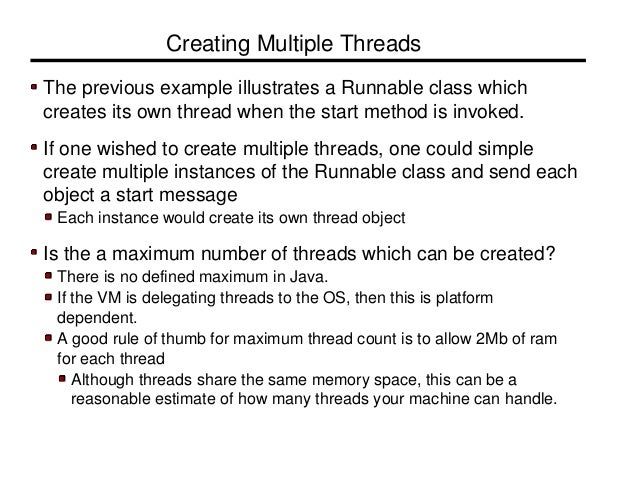 Threading examples in java.