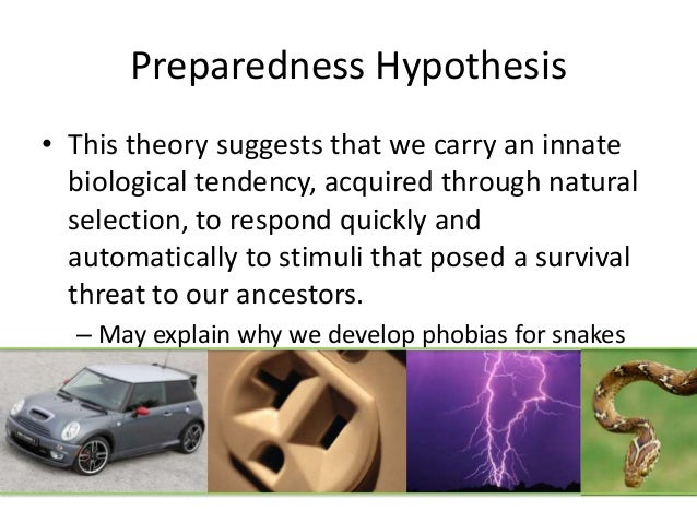 Biological preparedness helps explain this easily acquired phobia