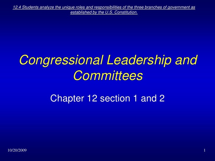 10/7/2009<br />12.4 Students analyze the unique roles and responsibilities of the three branches of government as establis...