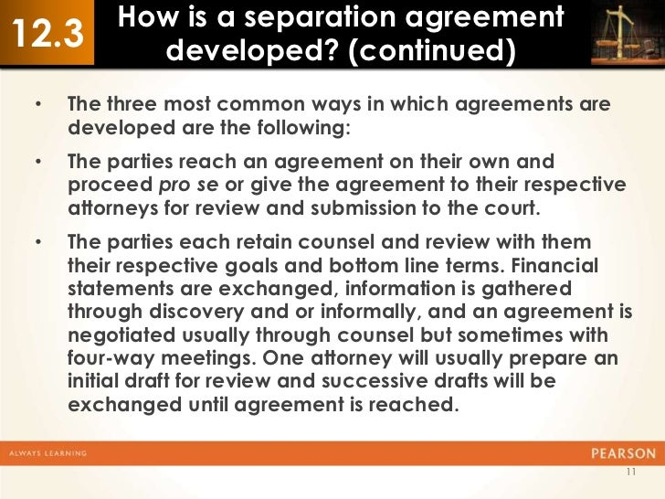 Ch 12 Separation Agreements 2ed