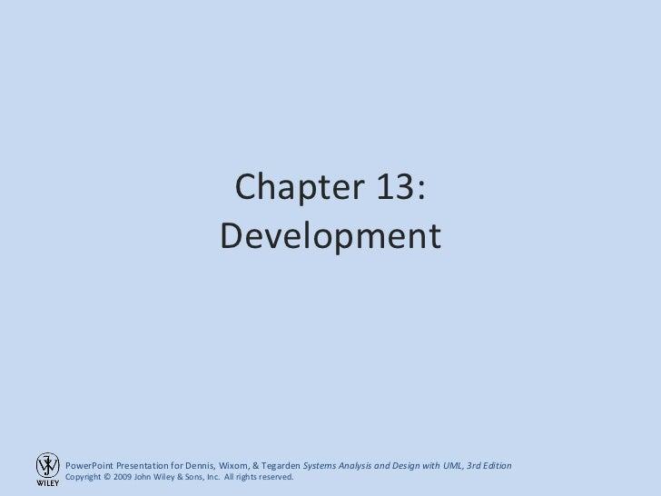 Chapter 13: Development