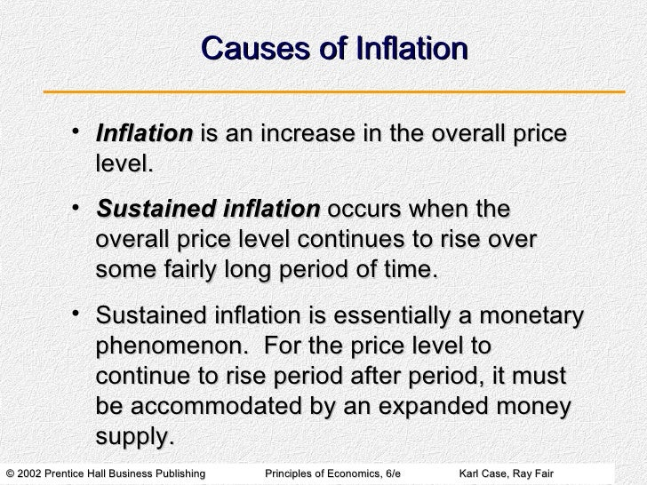 what causes inflation to increase