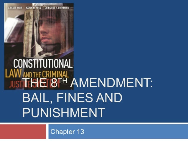 THE 8 AMENDMENT: BAIL, FINES AND PUNISHMENT TH  Chapter 13