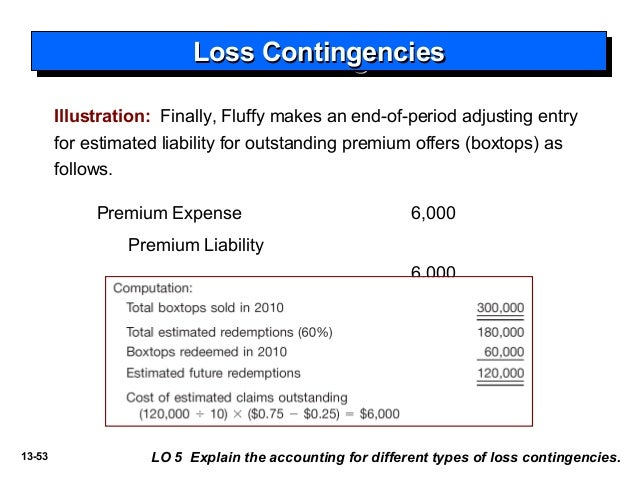 accounting for a loss contingency for [contingent liabilities and contingent assets which requires unavoidable losses in respect of onerous contracts to be expensed in the accounting period in which such losses become probable] after the anticipated loss is posted, subsequent revenue and costs are recognized in offsetting amounts as contract costs are incurred and do not generate .