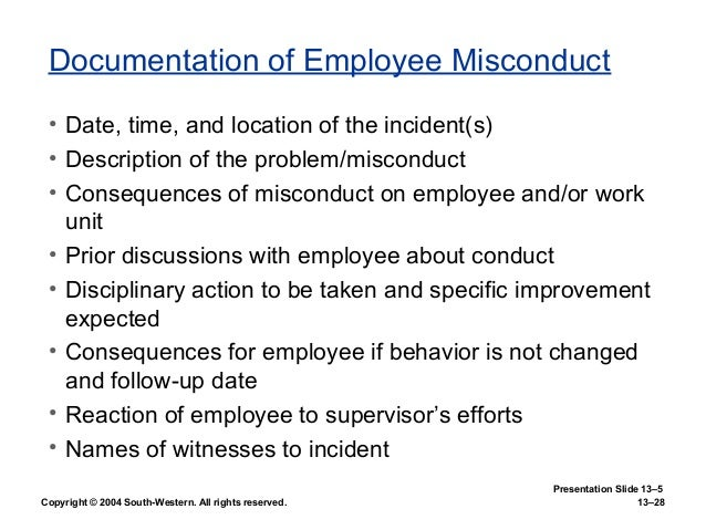 employee rights and discipline essay Rights of employees and disciplinary process in twelve pages employee rights are considered as they relate to job termination and discusses types of disciplinary processes that respect the rights of employees with constructivist discipline one of the concepts examined.
