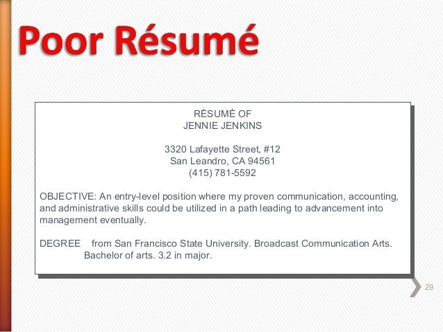 entry level position resumes