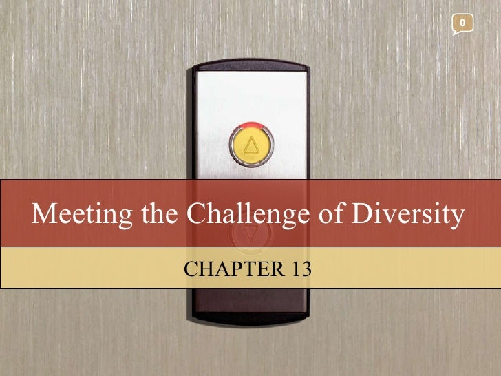 Meeting the Challenge of Diversity CHAPTER 13 0