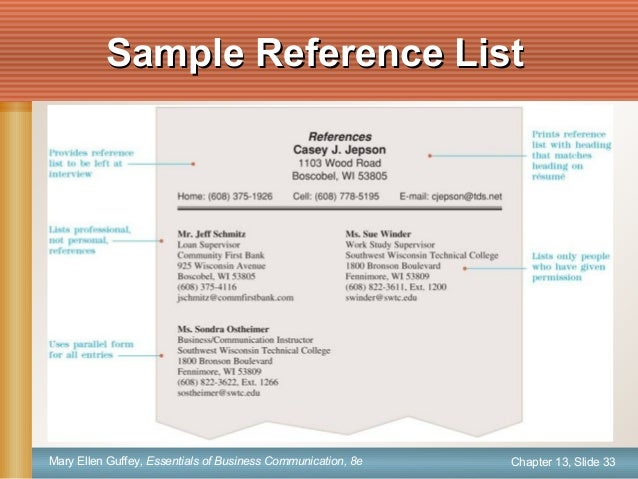 Ch13 instructor – Business Reference List