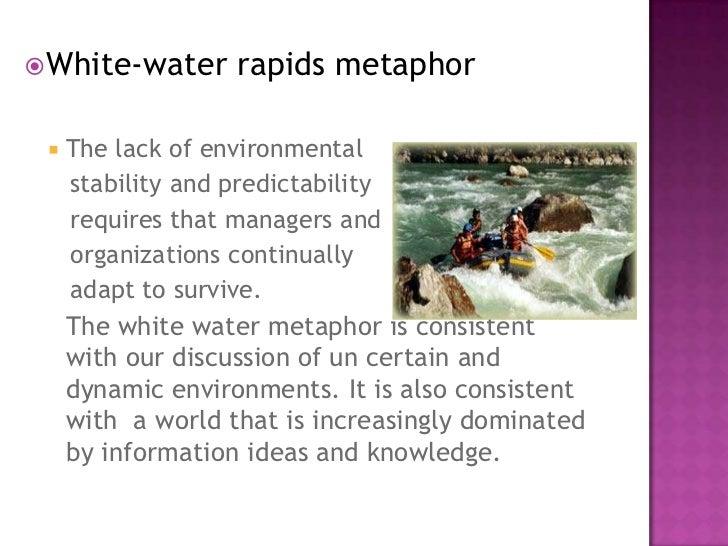white water rapids metaphor business plan