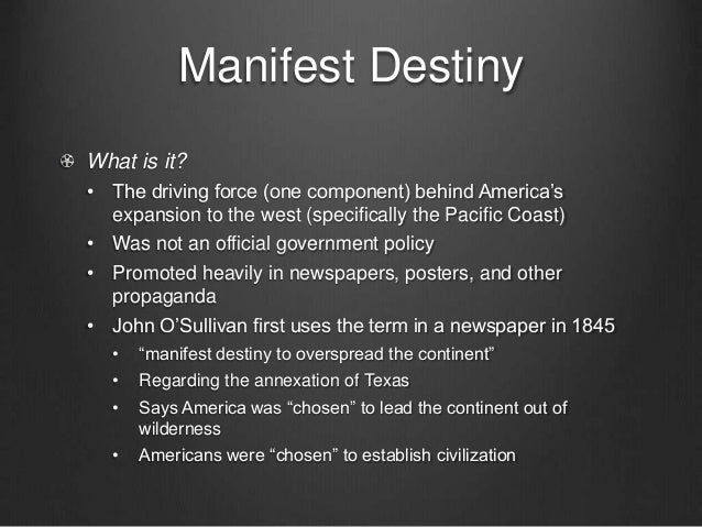 manifest destiny and foreign policy essay Related essays: westward expansion/manifest destiny review vocabulary foreign policy/manifest destiny/westward expansion the monroe doctrine, manifest destiny, and the mexican war similarities and difference between the manifest destiny and monroe doctrine.