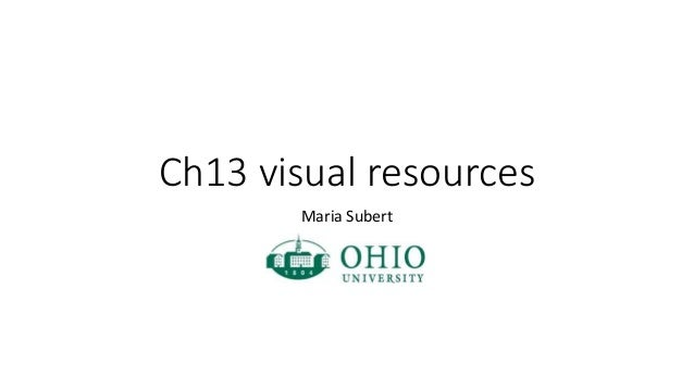 Ch13 visual resources  Maria Subert